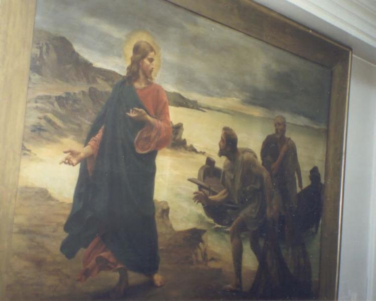 Tableau : Vocation des apôtres Pierre et André