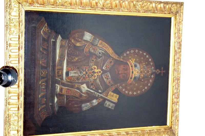 Paire de tableaux : reliquaire de saint Pierre