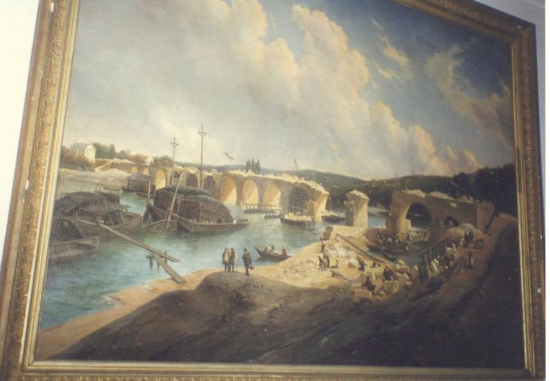 Tableau : Reconstruction du pont de Saint-Cloud