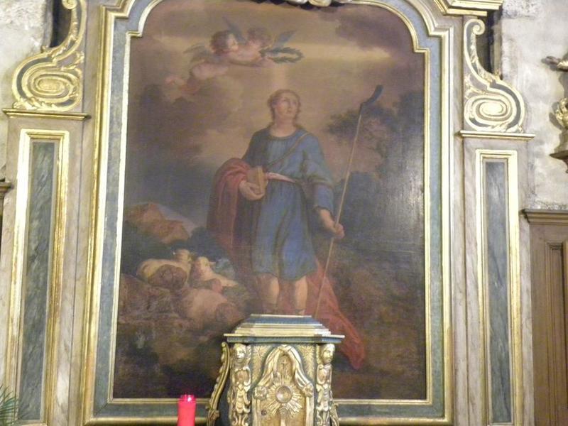 Autel dit de saint Mammès: retable