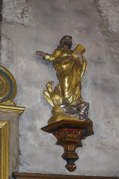 Autel dit de saint Mammès: statue de saint Jean l'Évangéliste