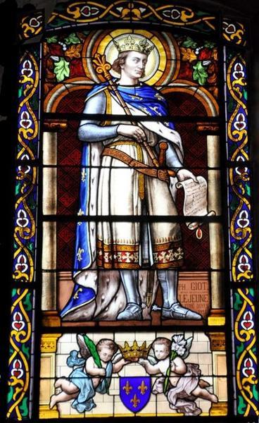 Deux verrières : saint Louis