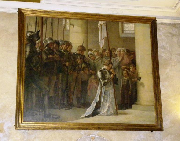 Tableau : Jeanne d'Arc priant dans l'église de Sèvres