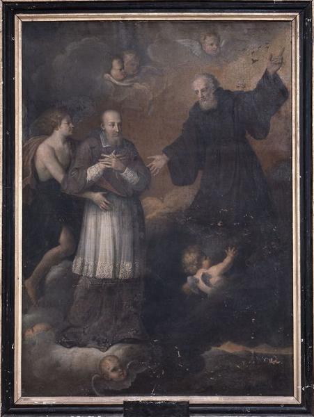 Tableau : saint François de Sales reçu par saint François de Paule