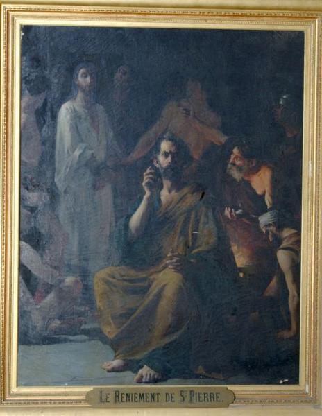 Tableau: Reniement de saint Pierre