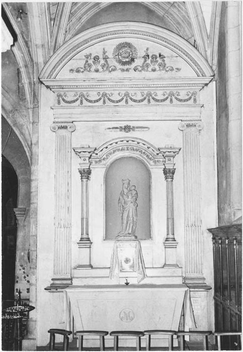 Retable de l'autel nord et retable de l'autel sud