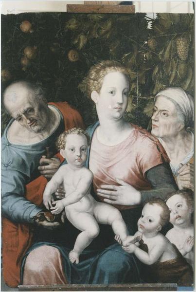 Tableau : la Sainte Famille, vue générale