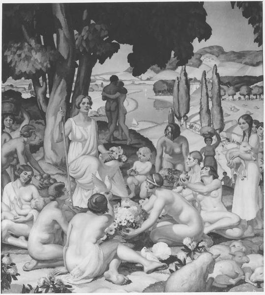 peinture monumentale : Allégorie de l'Abondance et de la Paix, vue générale