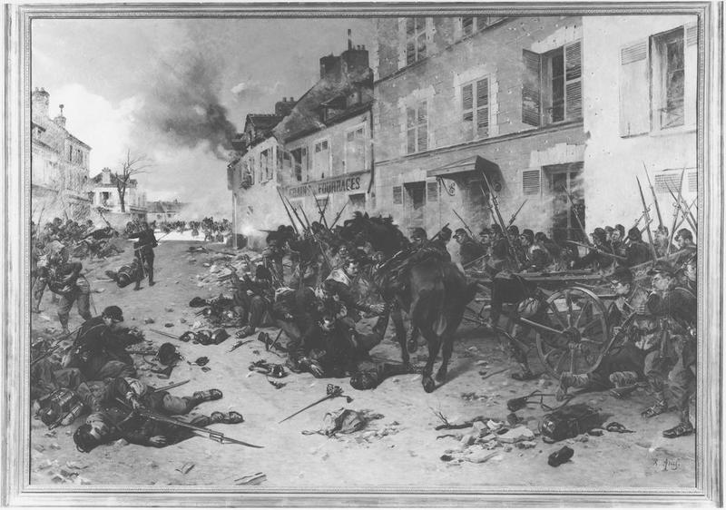 Tableau : les combats de 1870 à Epinay