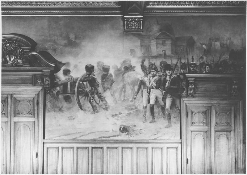Peinture monumentale : la Défense de Pantin en 1814, vue générale