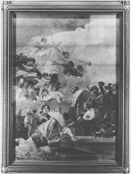 peinture monumentale : La Magistrature s'inclinant devant la Paix