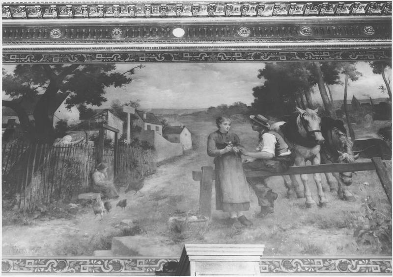 Peinture monumentale : Philémon et Beaucis, vue générale