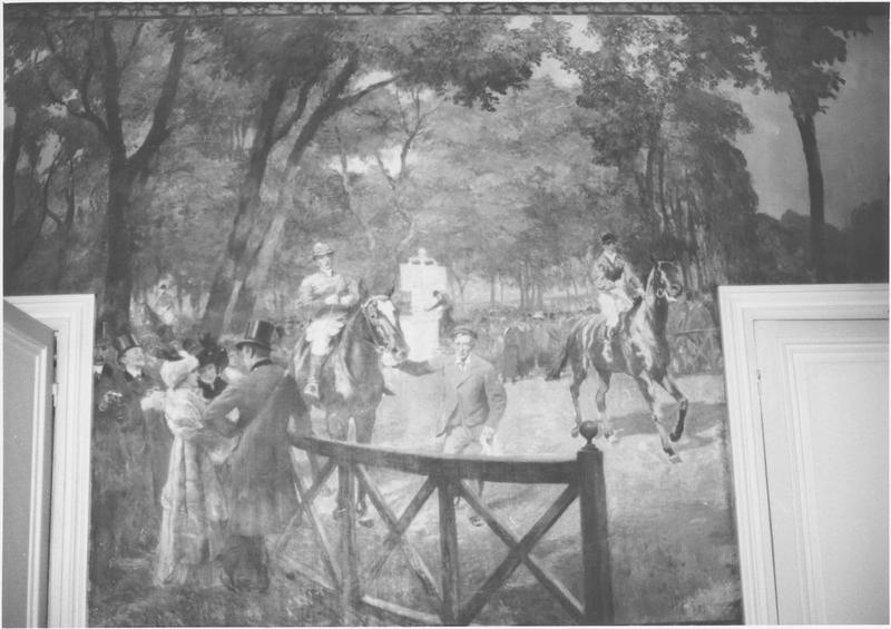 Peinture monumentale : le champs de courses, vue générale