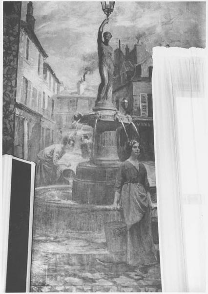 peinture monumentale : la fontaine de la place d'Armes