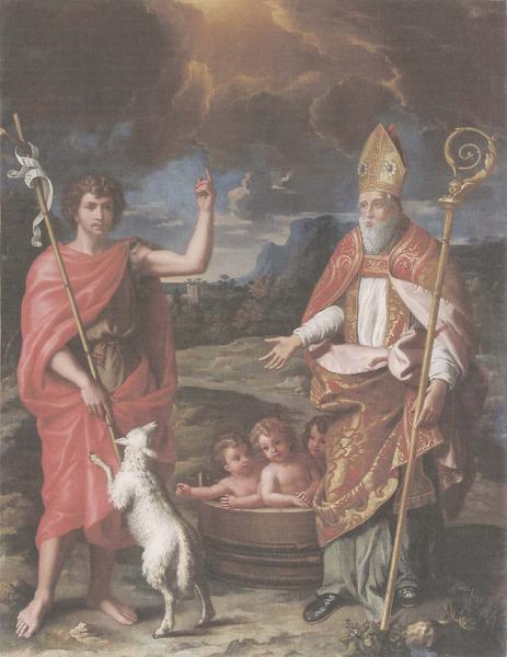 tableau : saint Jean-Baptiste et saint Nicolas, vue générale
