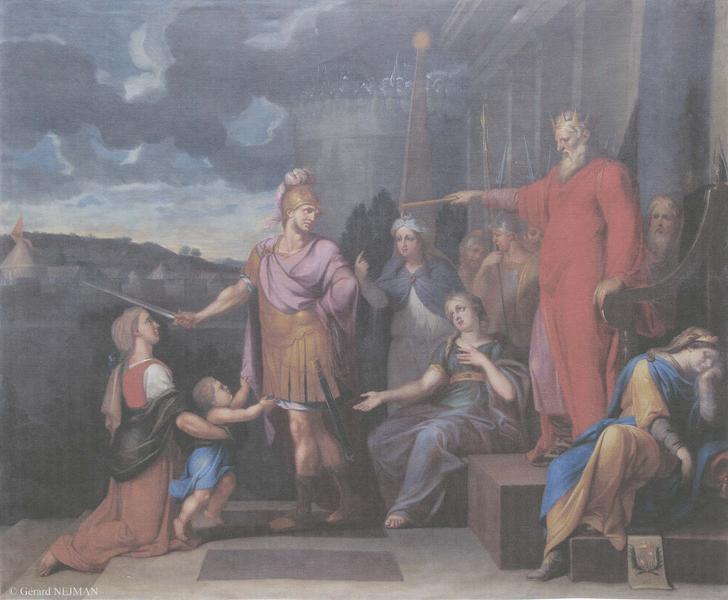 tableau : Le Jugement de Salomon, vue générale