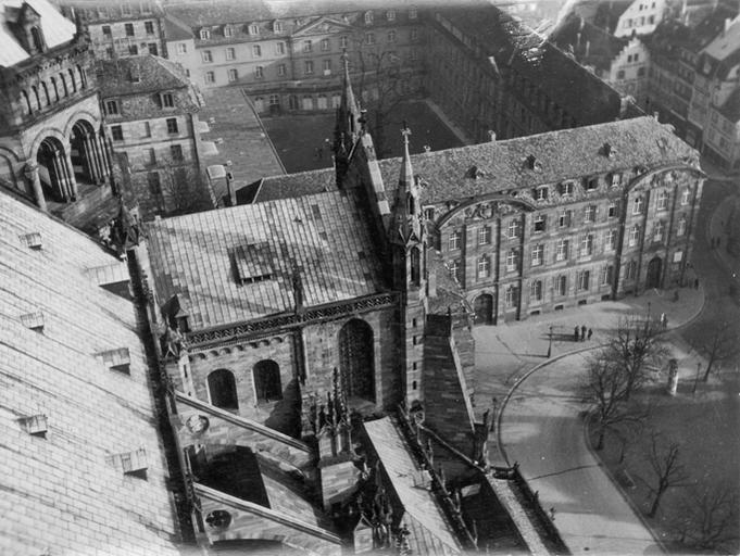 Lycée Fustel de Coulanges, vu de la tour de la cathédrale