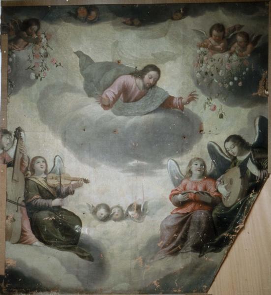 Tableau : Jésus au ciel et le concert des anges, ou l'Ascension ?