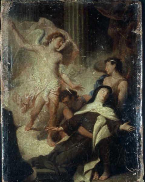 Tableau : La Transverbération de sainte Thérèse d'Avila