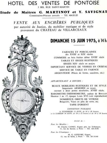 Ensemble de mobilier du château de Villarceaux, appartenant à la fondation Charles Léopold Mayer pour le Progrès de l'Homme