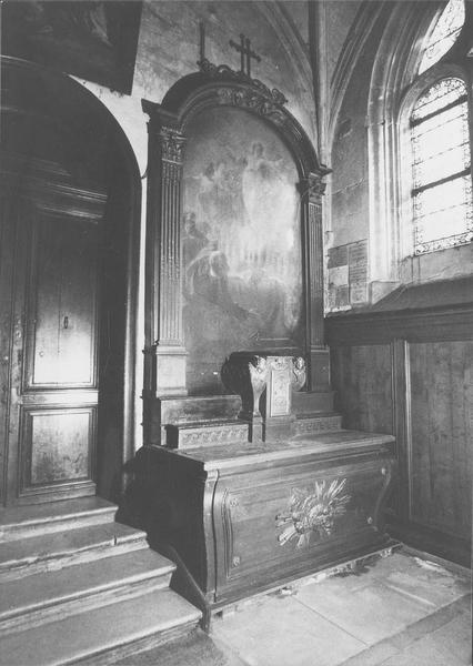 Tableau d'autel : l'Assomption (retable latéral sud)