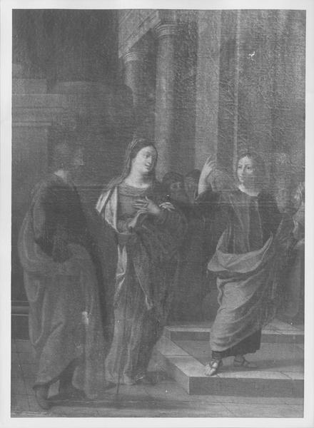 tableau : Jésus et les docteurs, vue générale