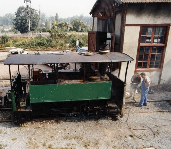 Locomotive à vapeur, à voie métrique 030 T n° 60, vue générale