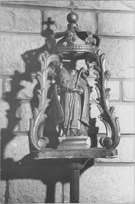 Bâton de procession de confrérie : saint Didier céphalophore