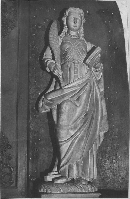 Bâton de procession de confrérie : sainte Barbe