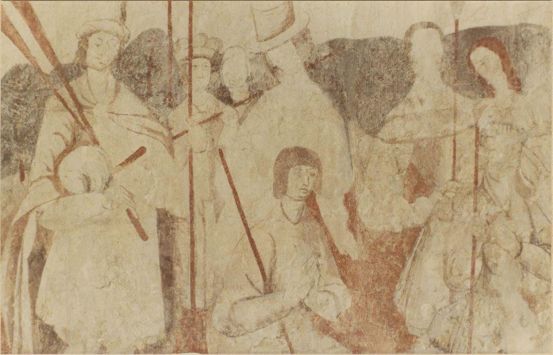 2 peintures monumentales : l'Annonce aux bergers, l'Adoration des Mages