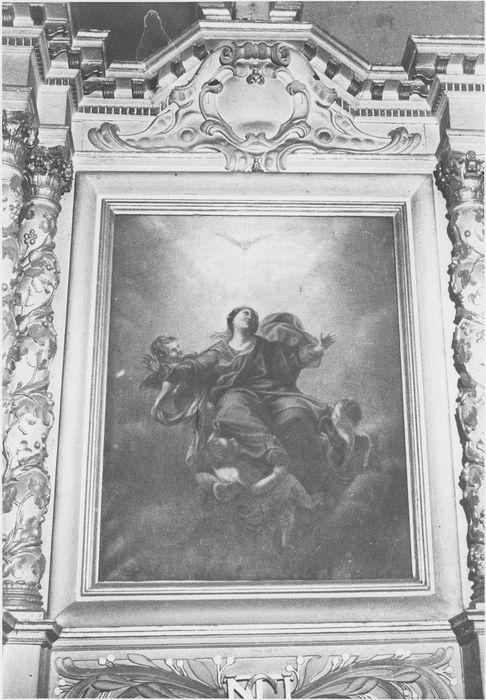 retable de l'autel de la Vierge, tableau: l'Assomption