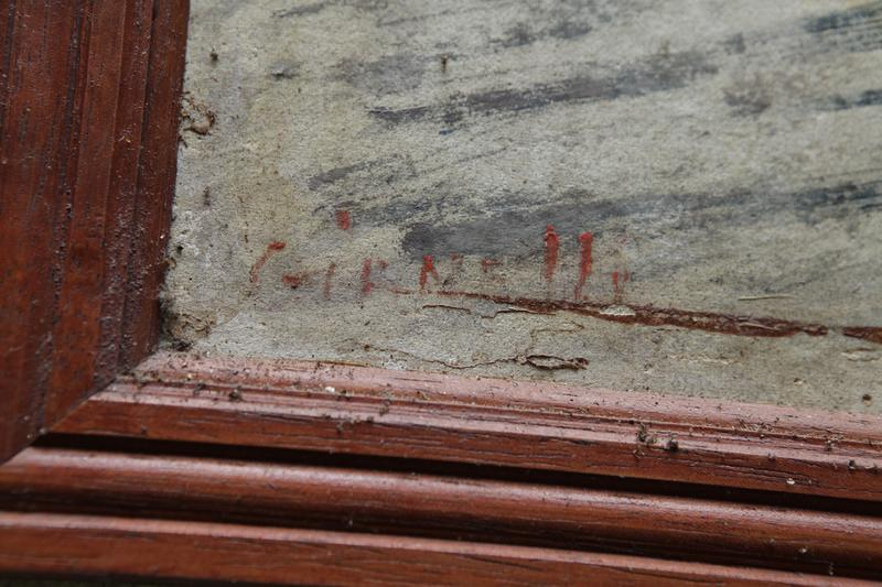 Tableau : Jésus est condamné à mort. 1ere station du chemin de Croix