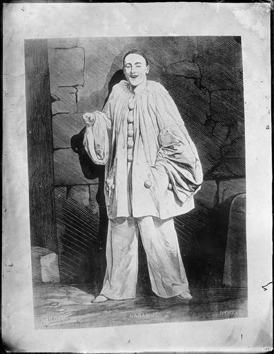 Le mime Debureau : gravure d'après le cliché de Nadar