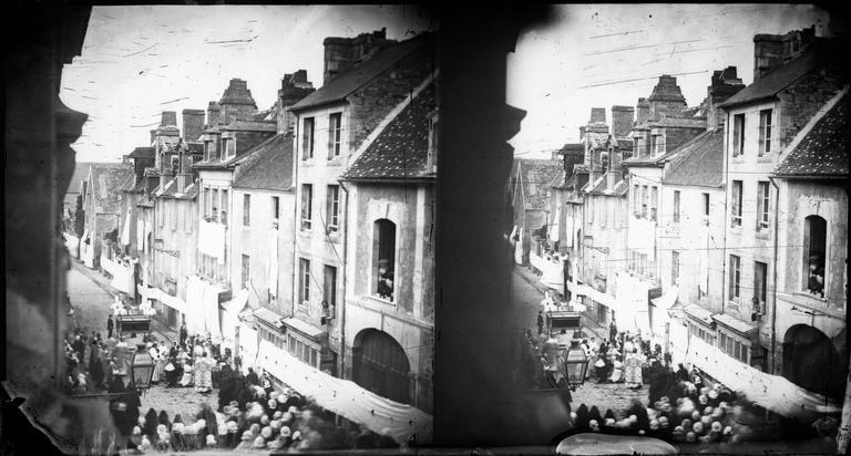 Procession de la Fête-Dieu vue de l'Hôtel de Brébisson