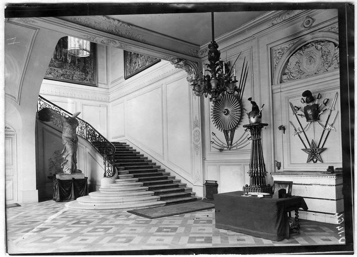 Le grand hall d'entrée