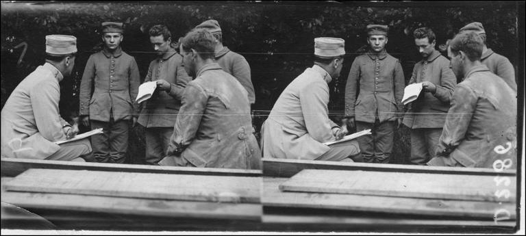 Interrogatoire de prisonniers allemands