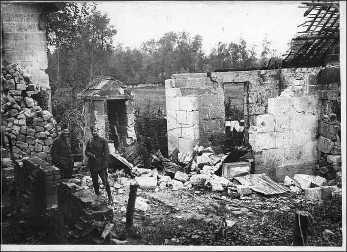 Emplacement du dépôt de munitions que les Allemands ont fait exploser