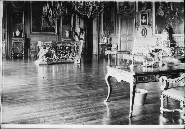 Le grand salon du château