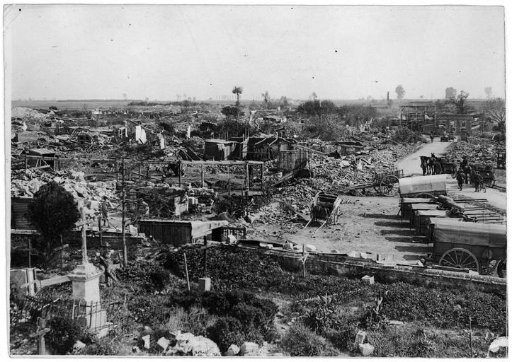 Vue général des ruines