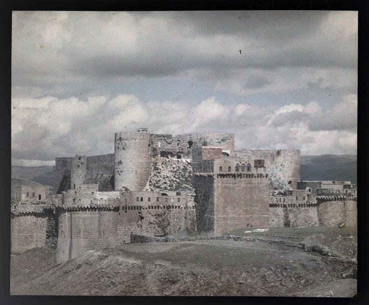Le front sud avant restauration, vue depuis l'ouest