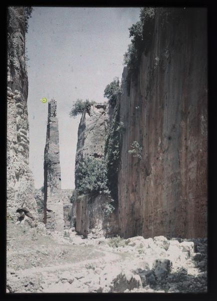 Front est, l'aiguille du grand fossé vue du sud