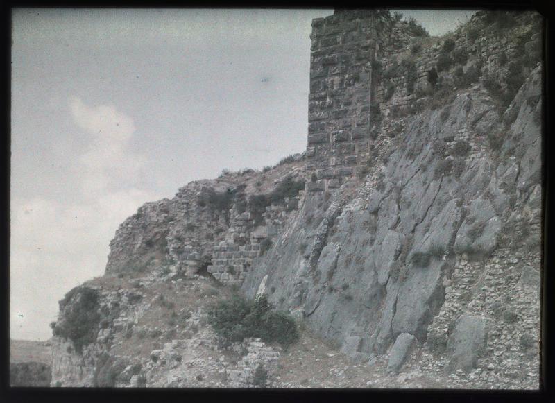 Détail du front ouest du château haut