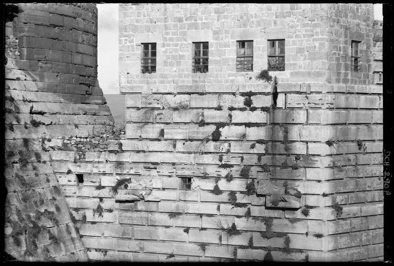Détail des parements extérieurs de la tour des Lions