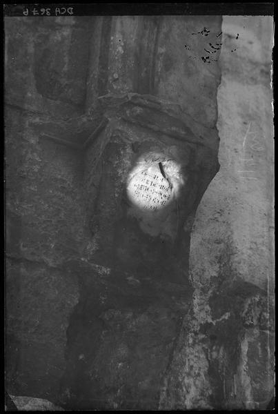 Galerie gothique, inscription latine dite du frère Jorgi