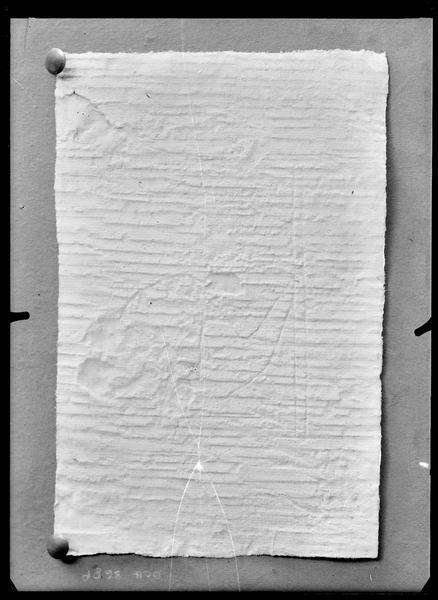 Relevé sur papier de marque de tâcheron