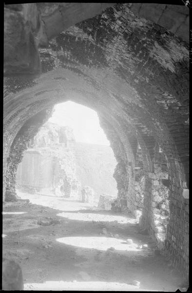 Intérieur d'une salle voûtée