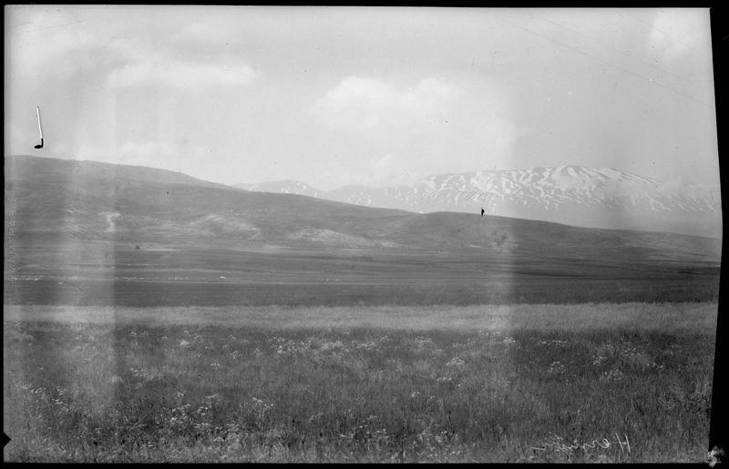 Paysage de montagne, avec à l'arrière-plan le mont Hermon