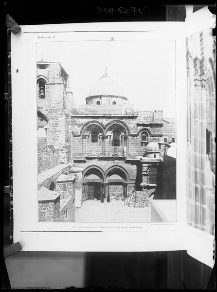 Reproduction d'une vue imprimée de la façade méridionale
