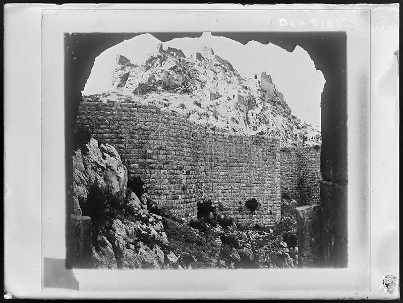 Reproduction d'une vue du château