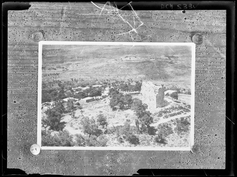 Reproduction d'une vue aérienne du site